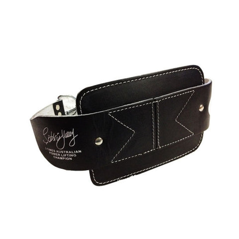 Morgan Platinum Leather Dip Belt
