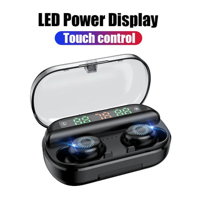 Bluetooth Earphone With Microphone LED Display