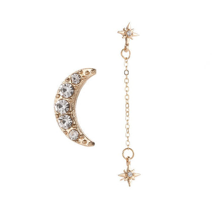 Sparkleshell Starmoon Chain Earrings