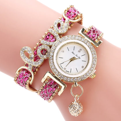 Timesparkles  Love Leather Watch