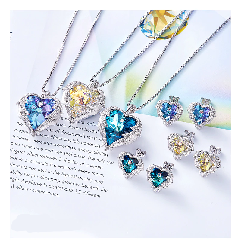 NEKLETSPARKS Charming Crystal Swarovski Necklace/earrings