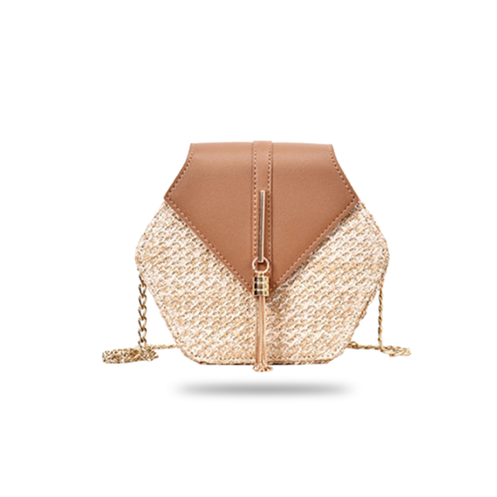 Carrysparks Hexagon Rattan Bag