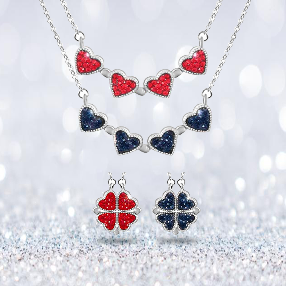 Nekletsparks Clover Hearts Necklace