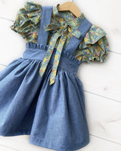 Load image into Gallery viewer, Sage Green Petite Fleurs & Blue Chambray Set