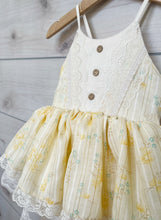 Load image into Gallery viewer, Size 2/3 Light Yellow Skirted Romper