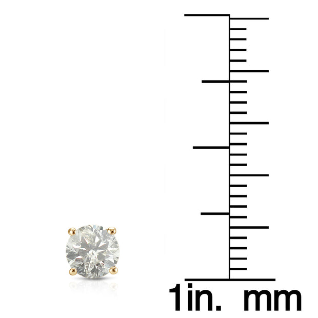18K White/Yellow Gold 1.52TCW Natural Diamond Studs