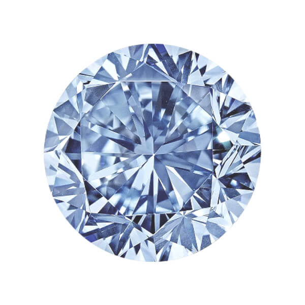 GIA Certified 0.13CT Faint Blue Round Diamond