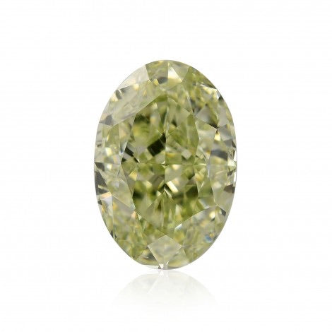 GIA Certified 1.47CT Fancy Greenish Yellow Oval Cut Diamond Closeouts