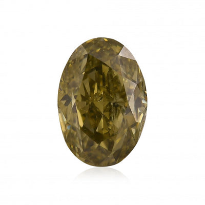 GIA Certified 0.57CT Fancy Green Oval Cut Diamond Closeouts