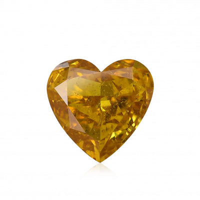GIA Certified 0.52CT Fancy Yellow Heart Shape Diamond Closeouts