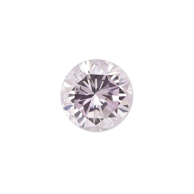 GIA Certified 0.58CT Fancy Pink SI1 Round Brilliant Diamond