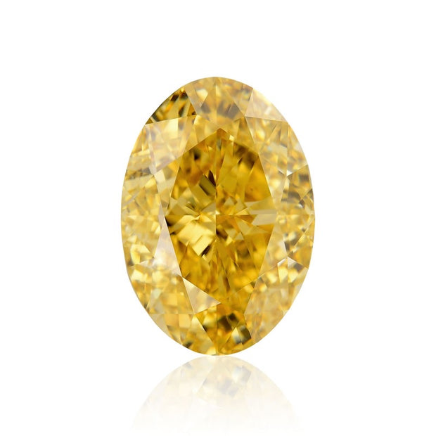 GIA CHAMELEON 0.51CT Fancy Yellow Green SI2 Oval Cut Loose Diamond