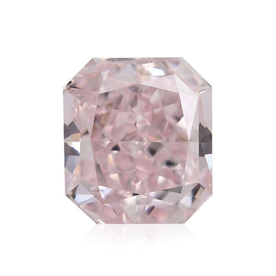 GIA Certified 0.34CT Fancy Brownish Pink SI2 Radiant Cut Diamond