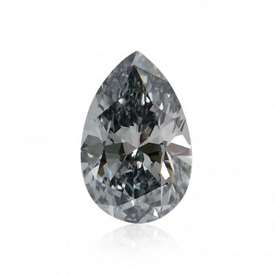 GIA Certified 0.52CT Pear Shape Fancy Dark Grey Diamond