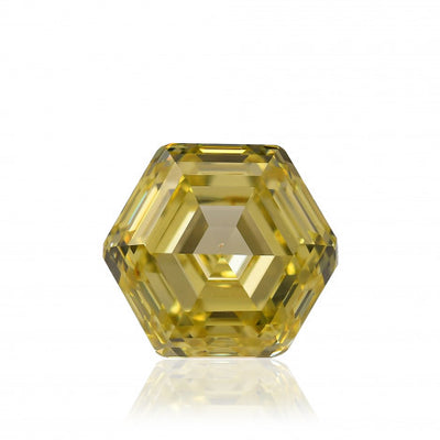 GIA 1.30CT Fancy Yellow I1 Hexagonal Loose Diamond