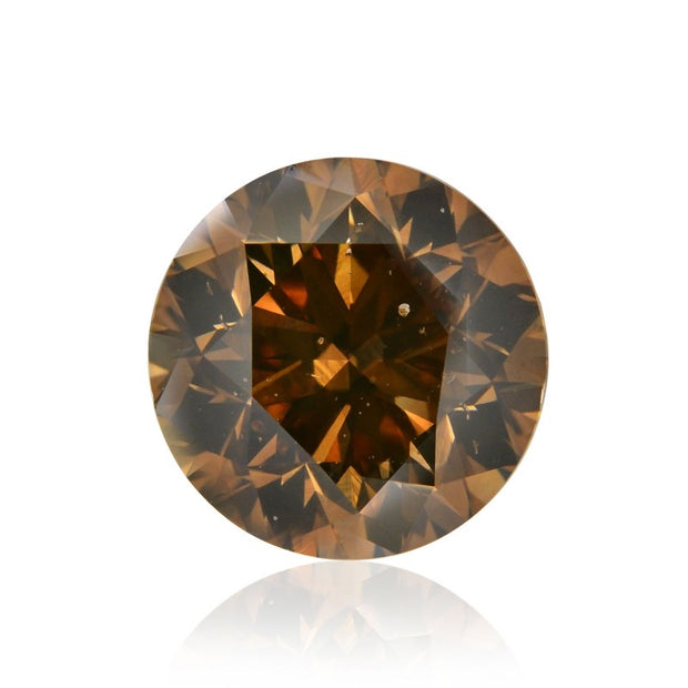 GIA Certified 0.53CT Fancy Dark Brown Round Brilliant Diamond