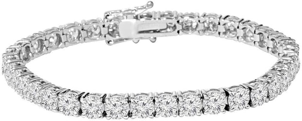 5 Carat Diamond Tennis Bracelet in 14k White Gold G+ color SI2 + Clarity