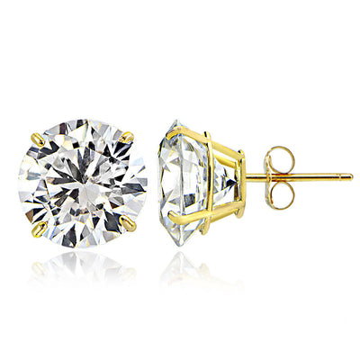 18K White/Yellow Gold 2.01TCW Natural Diamond Studs