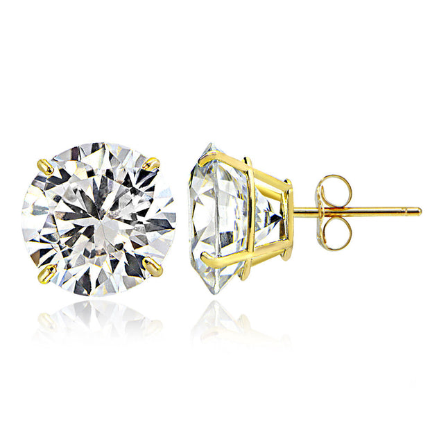 18K White/Yellow Gold 3.01TCW Natural Diamond Studs
