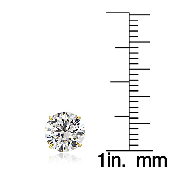 18K White/Yellow Gold 1.53TCW Natural Diamond Studs