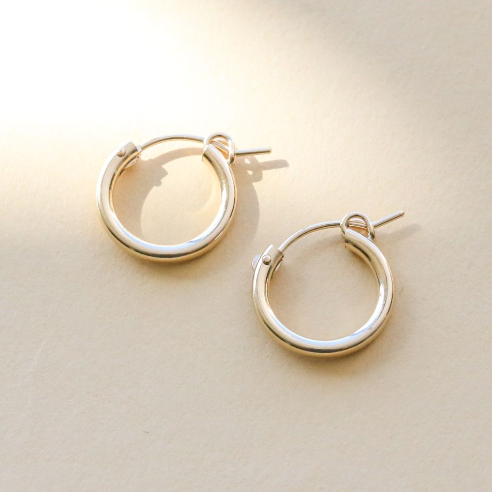 Sydney 15mm Hoop Earrings