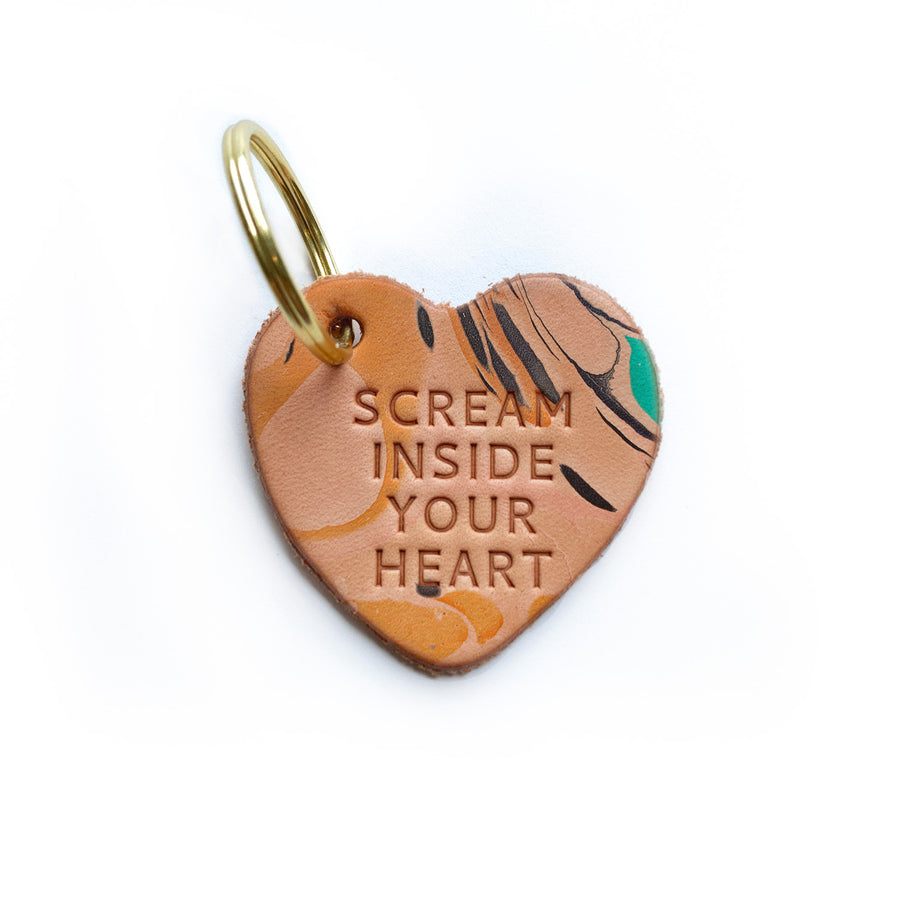 Scream Inside Your Heart Keychain
