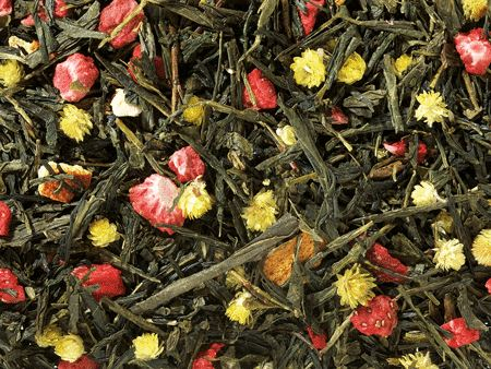 Spring Melody: Green Tea Blend (Strawberry/Orange)