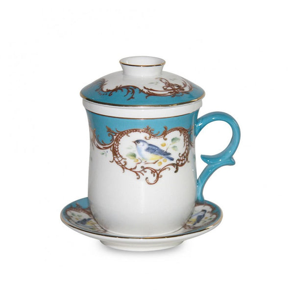 Finch Peacock Blue 4 Piece Tea for Me Set