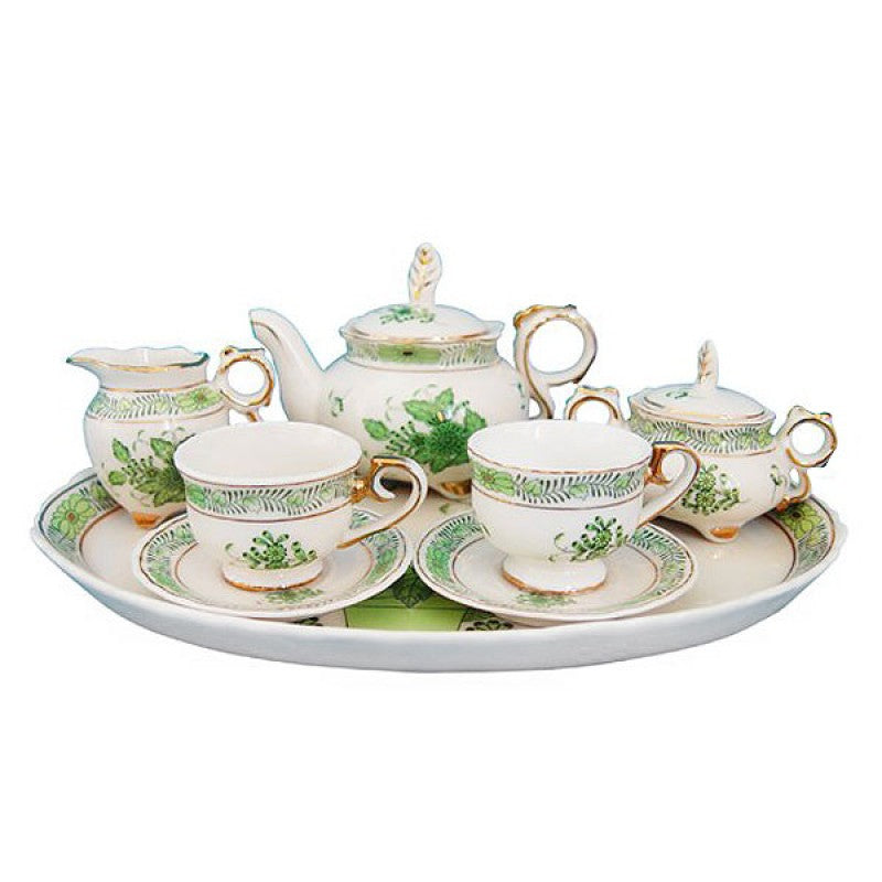 Green Gracie 10 Piece Tea Set for Kids