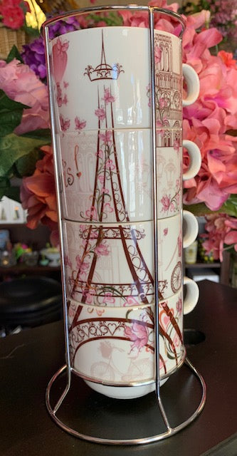 5 Piece Tower Paris Coffee Mugs