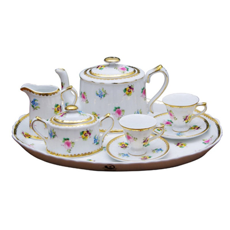 Petite Floral 10 Piece Tea Set for Kids