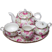 Summer Rose 10 Piece Tea Set for Kids