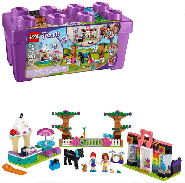 LEGO Friends - Heartlake City Brick Box (41431) Building Kit; Make 6 Scenes from 1 Box for Creative Fun (321 Pieces)