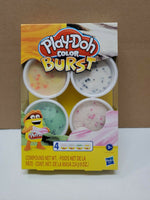 Play-Doh Color Burst Ice Cream Themed Pack of 4 x 2oz Non-Toxic Colors Orange/Gr