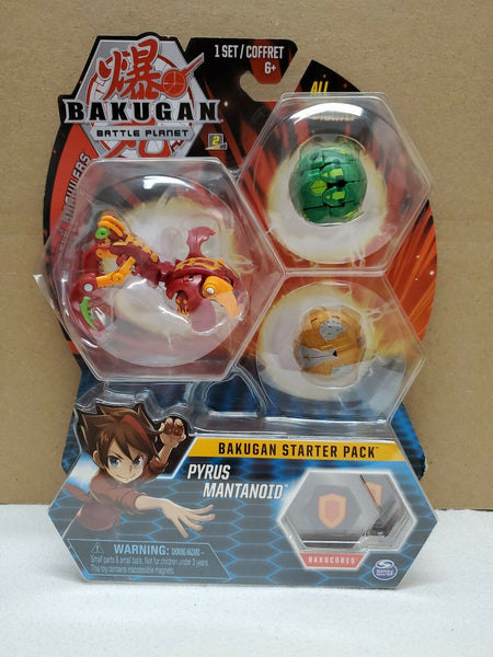 Bakugan Battle Planet - Pyrus Mantonoid (rare) Starter Pack 3-Pack