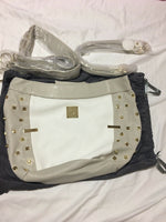 Miche Luxe - Baden Shell Beige White Gold With Straps Handles & Fob