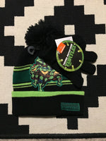 Teenage Mutant Ninja Turtles Two Piece Winter Hat Beanie With Mittens