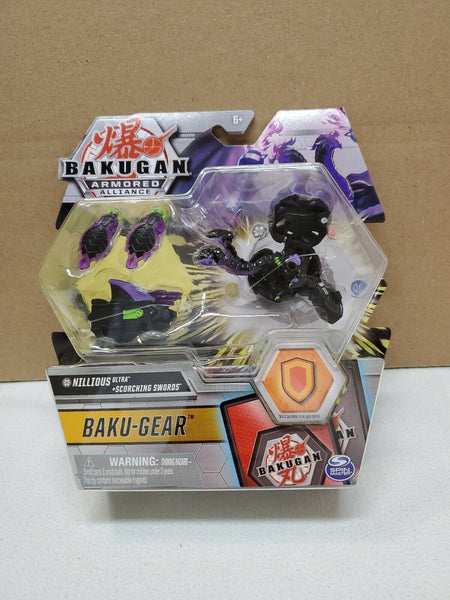 Bakugan Armored Alliance + Baku-Gear - Darkus Nillious Ultra + Scorching Swords