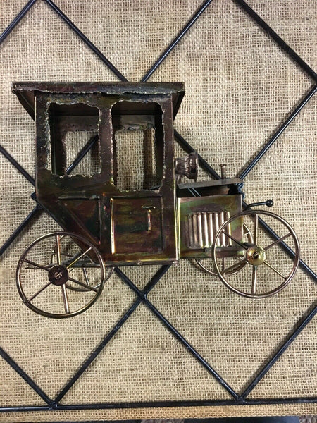 BERKELEY DESIGNS Music Box Copper VINTAGE CAR Wind Up