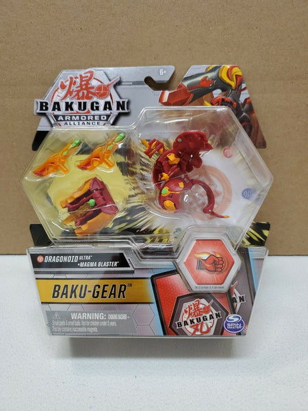 Bakugan Armored Alliance Ultra Bakugear - Pyrus Dragonoid with Magma Blaster