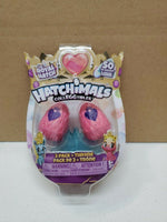 HATCHIMALS Colleggtibles The Royal Hatch 2 Pack & Throne New (Pink/Purple Eggs)