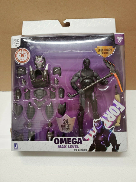 "Fortnite Legendary Series Max Level Figure 6"" with 24 Armor Pieces, Purple Omega"