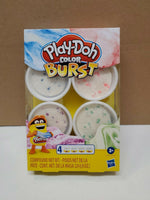 Play-Doh Color Burst Ice Cream Themed Pack of 4 x 2oz Non-Toxic Colors Pastels