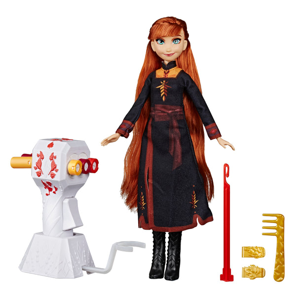 Disney Frozen II (Frozen 2) Long Hair Anna Doll with Automatic Hair Braiding Tool