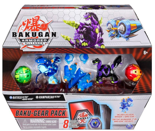 Bakugan Baku-Gear 4-Pack, Batrix Ultra with Baku-Gear and Ramparian Ultra