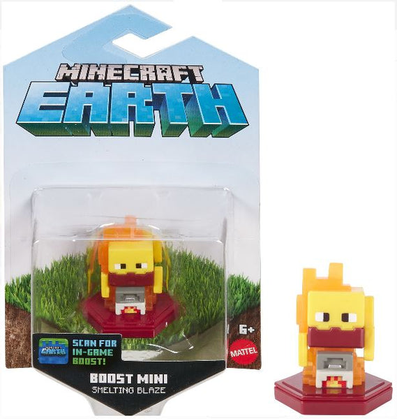 "Mattel Minecraft Earth ""Smelting Blaze"" Boost Mini Figure for NFC Chip Enabled For Play With Minecraft Earth Augmented Reality Mobile Device Game"