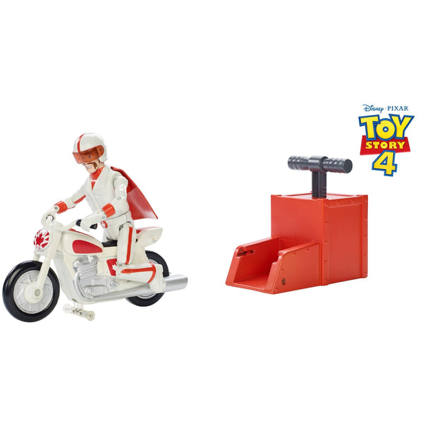 Disney Pixar Toy Story Stunt Racer Duke Caboom Figure with Launcher