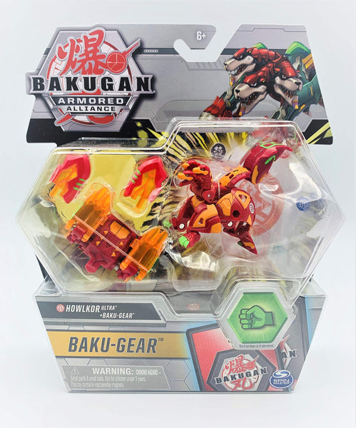 Bakugan Armored Alliance - Pyrus Howlkor Ultra + BAKU-GEAR