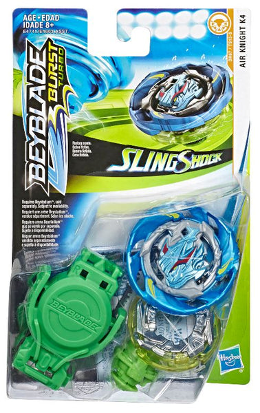 Beyblade Burst Turbo Slingshock Air Knight K4 Starter Pack Game, Ages 8+