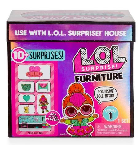 L.O.L. Surprise! Series 1 Furniture Bedroom with Neon Q.T. and 10+ Surprises